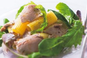 血糖値上昇が緩やかで栄養豊富/お肉もしっかり昼食メニュー①豚ヒレ肉のサラダパスタ