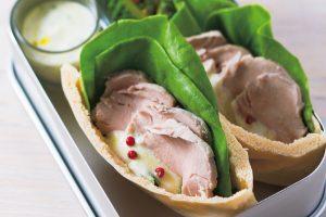 血糖値上昇が緩やかで栄養豊富/お肉もしっかり昼食メニュー②豚ヒレ肉のピタパンサンド