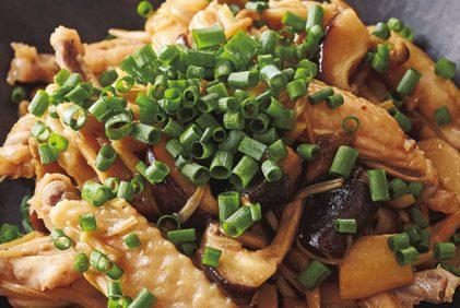 「作りおき」で毎日手軽に「きのこパワー」を摂取!①「しょうが黒酢きのこ」で「チキンリブのきのこ煮」