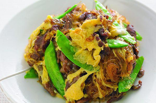 牛肉すき焼き煮ストックを使った「甘辛卵炒め」/PART4「週末作りたい」ストック⑫