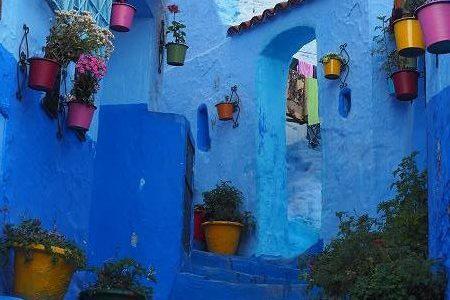 モロッコで異国情緒満喫の旅  その1 白い街と青い街