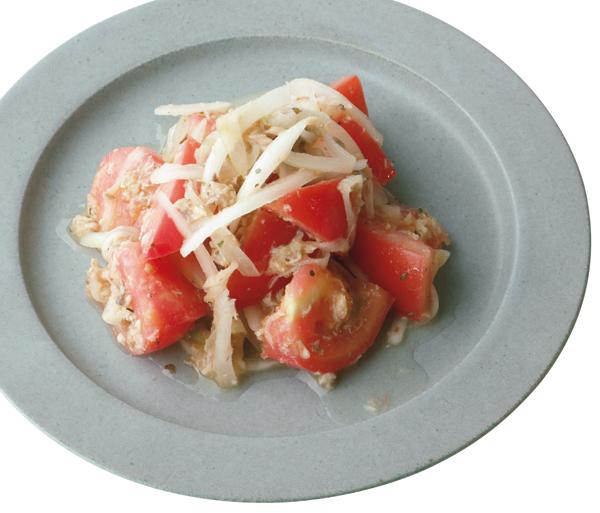 サバ缶 トマトとサバフレークのサラダ