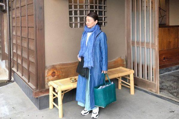 1泊用の荷物がある日のらくちんスタイルで、真鶴のお寿司屋さんへ