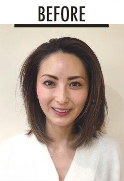美髪セミロング 東出さんbefore