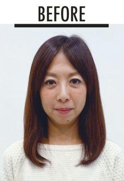 美髪セミロング 前田さんbefore
