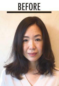 美髪セミロング 上井さんbefore
