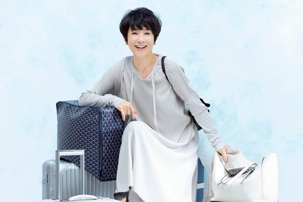 黒田知永子さんの旅じたく「街歩きの旅には、服も小物も今のお気に入りを」