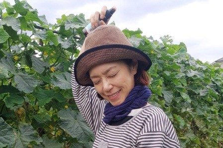 夏の畑、野菜とともに待っているのは・・・