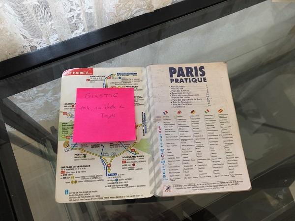 小林さん パリの地図