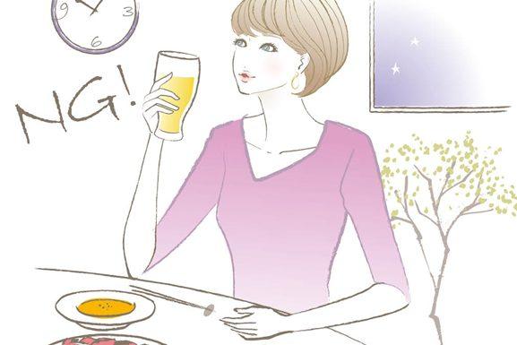 夜遅くの食事がぎっくり腰の原因になる!?