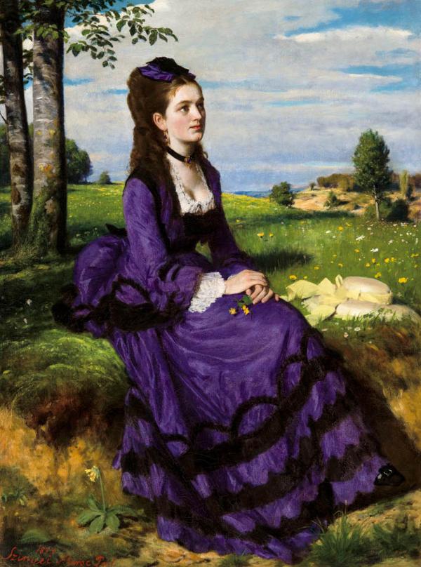 エディターズファイル 紫のドレスの婦人