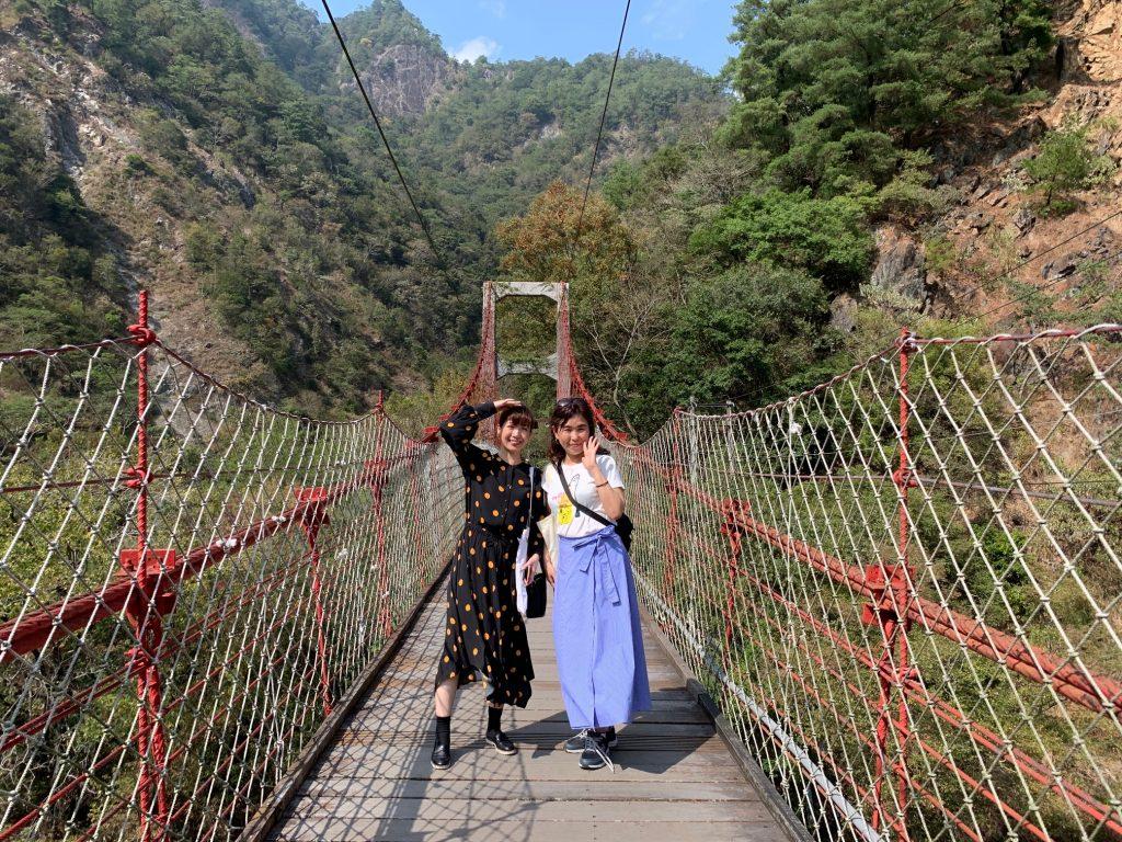 中込さん 吊り橋