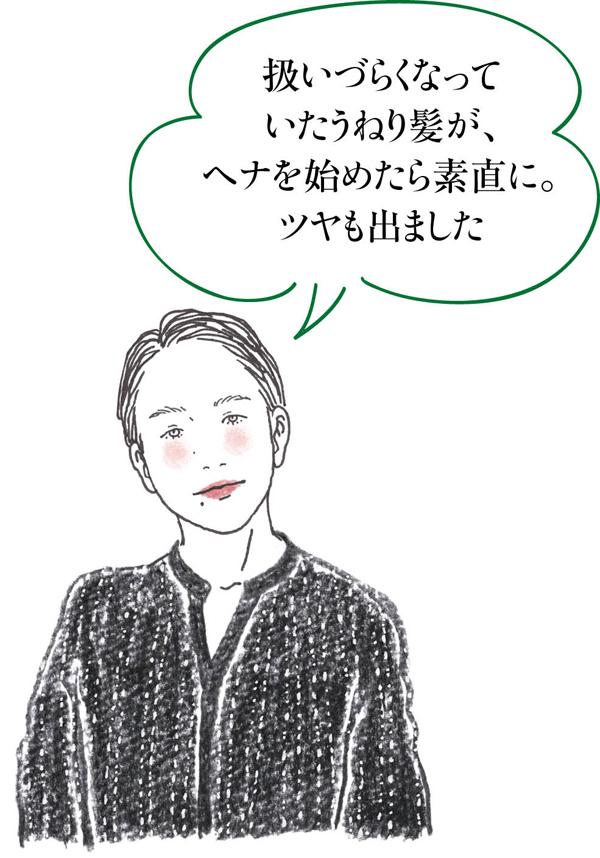 白髪対策ヘナ 浅香さんイラスト
