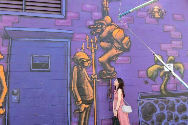 街全体がアートギャラリー。ハワイカカアコ地区でアートで美味なシーフードを