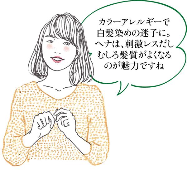 白髪対策ヘナ 中島さんイラスト