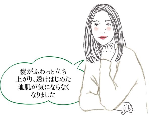白髪対策ヘナ 永井さんイラスト