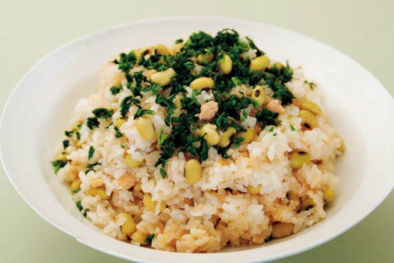 もちもち大豆ご飯/大豆の栄養素プラス噛む刺激が「脳活」に!