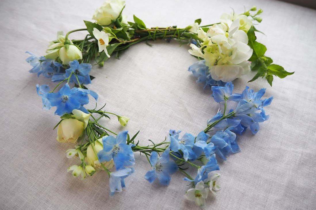 夏至祭の「花冠」で、北欧の夏の少女気分