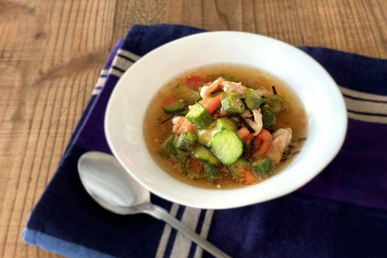 ボウル1つでOK! 栄養を摂りながらの置き換えダイエットにも!「夏野菜のスマートスープ」