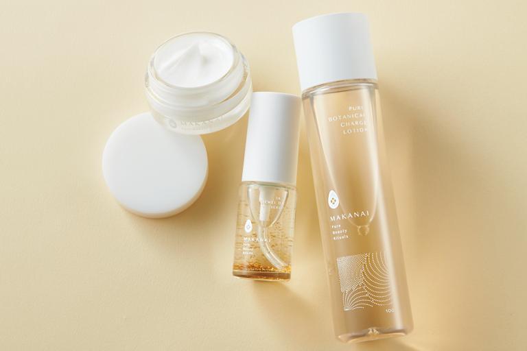 肌と環境を考慮した和コスメで、上質な潤い美肌に/MAKANAI うるつや化粧水、さらりと潤う美容オイル、叶えるフェイスクリーム