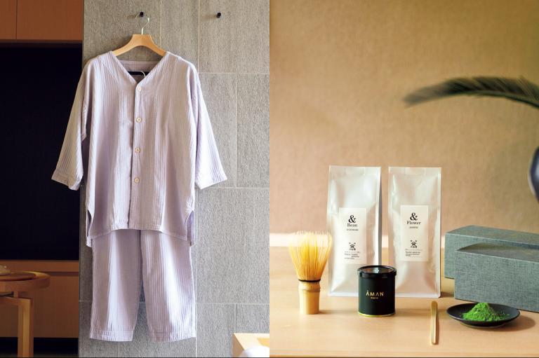 アマン京都のパジャマとティーギフトで、自宅で極上のくつろぎの時間を!