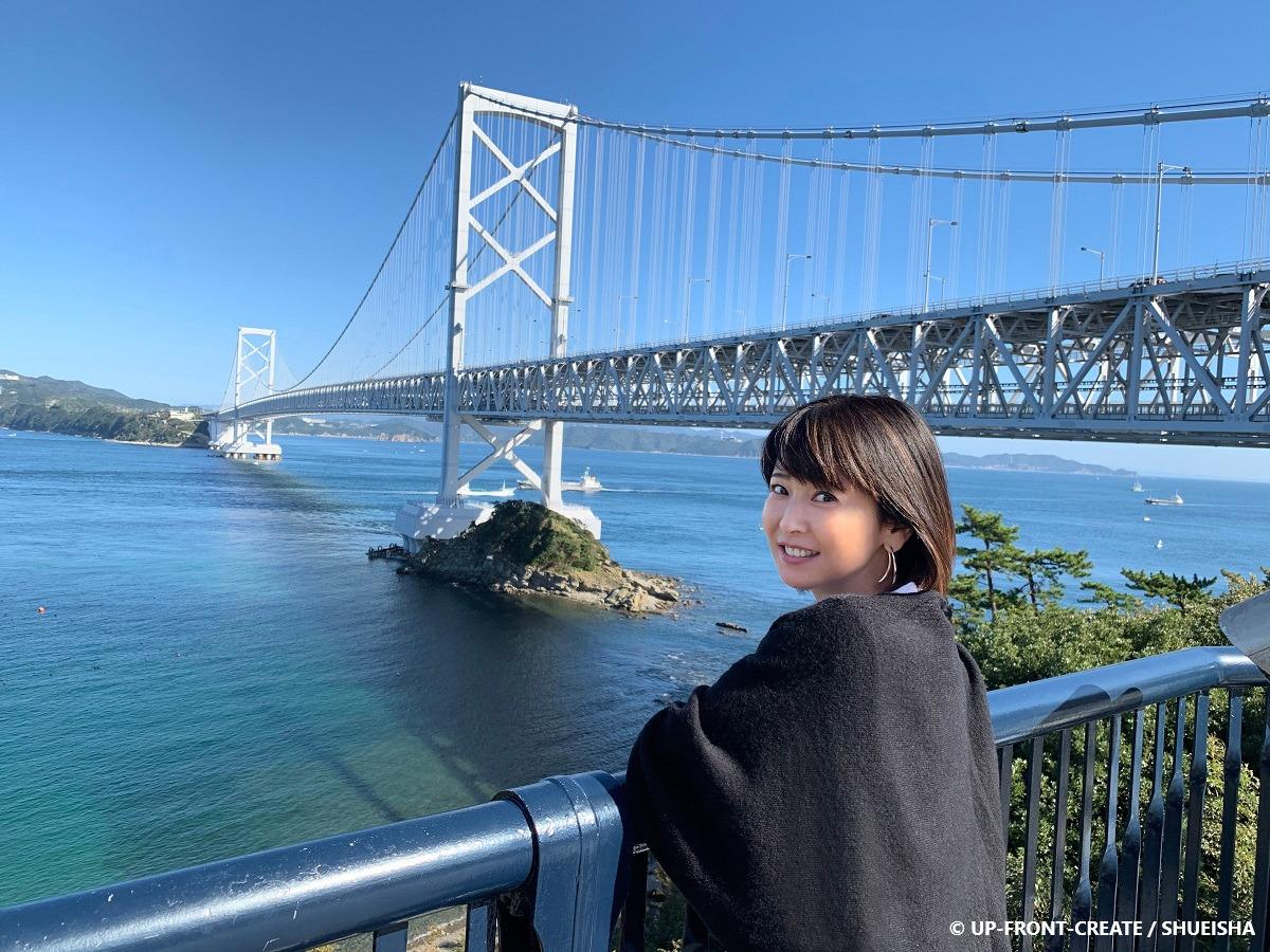 森高千里さん 徳島県 大鳴門橋にて