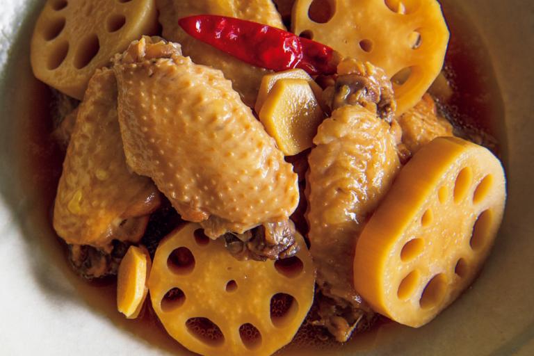 しょうがとお酢であっさりと。「鶏手羽中と新れんこんの酢じょうゆ煮」/メインおかずにお酢をプラス④