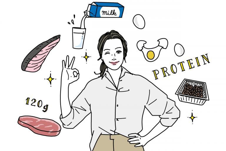 1日にとるべきタンパク質の量や組み合わせの目安は?