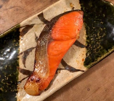 NEWプログレで焼いた鮭