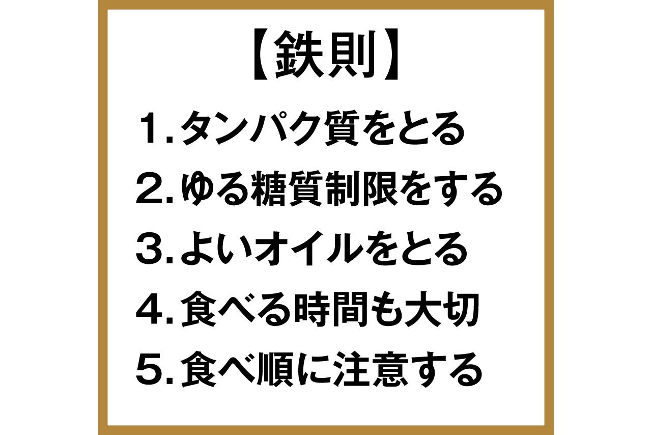 食事の鉄則
