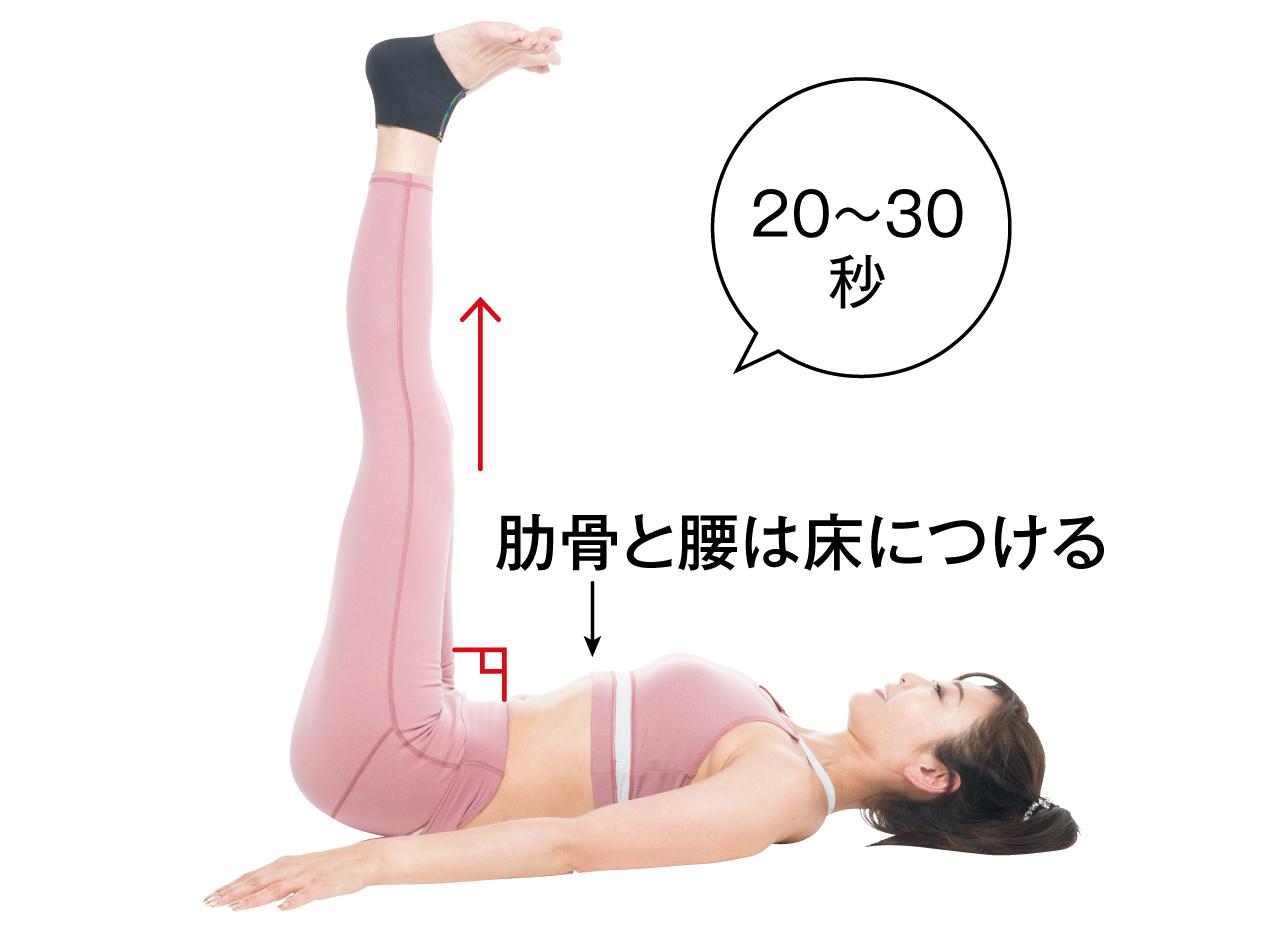 肋骨と腰は床につける