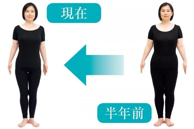 46歳女性の半年間のダイエット、劇的ビフォーアフター総まとめ/お腹ポッコリ解消編