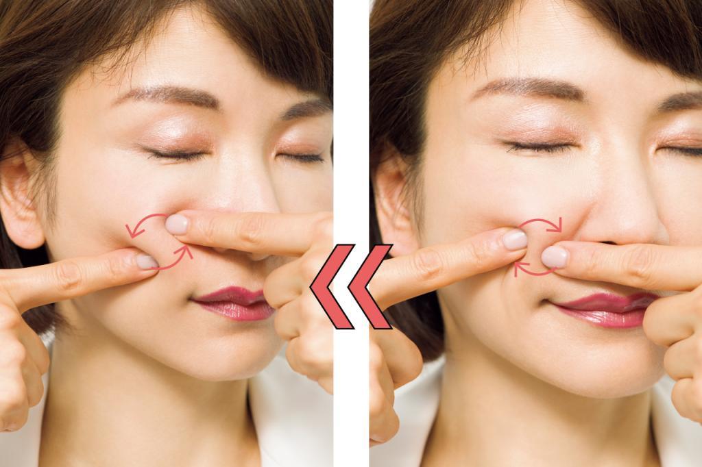 頰の脂肪のダブつきを指ひねりマッサージで解消!