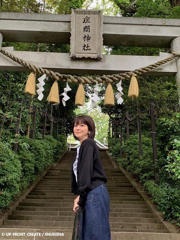 森高千里さん 神奈川 座間神社にて