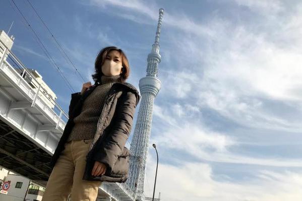 ユーユーの湾岸探検隊!②  スカイツリーを背景にニューオープンの「東京ミズマチ®」へ行ってきました!