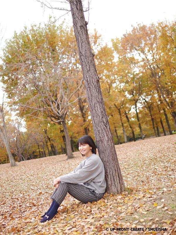 森高千里さん熊谷市にて紅葉写真