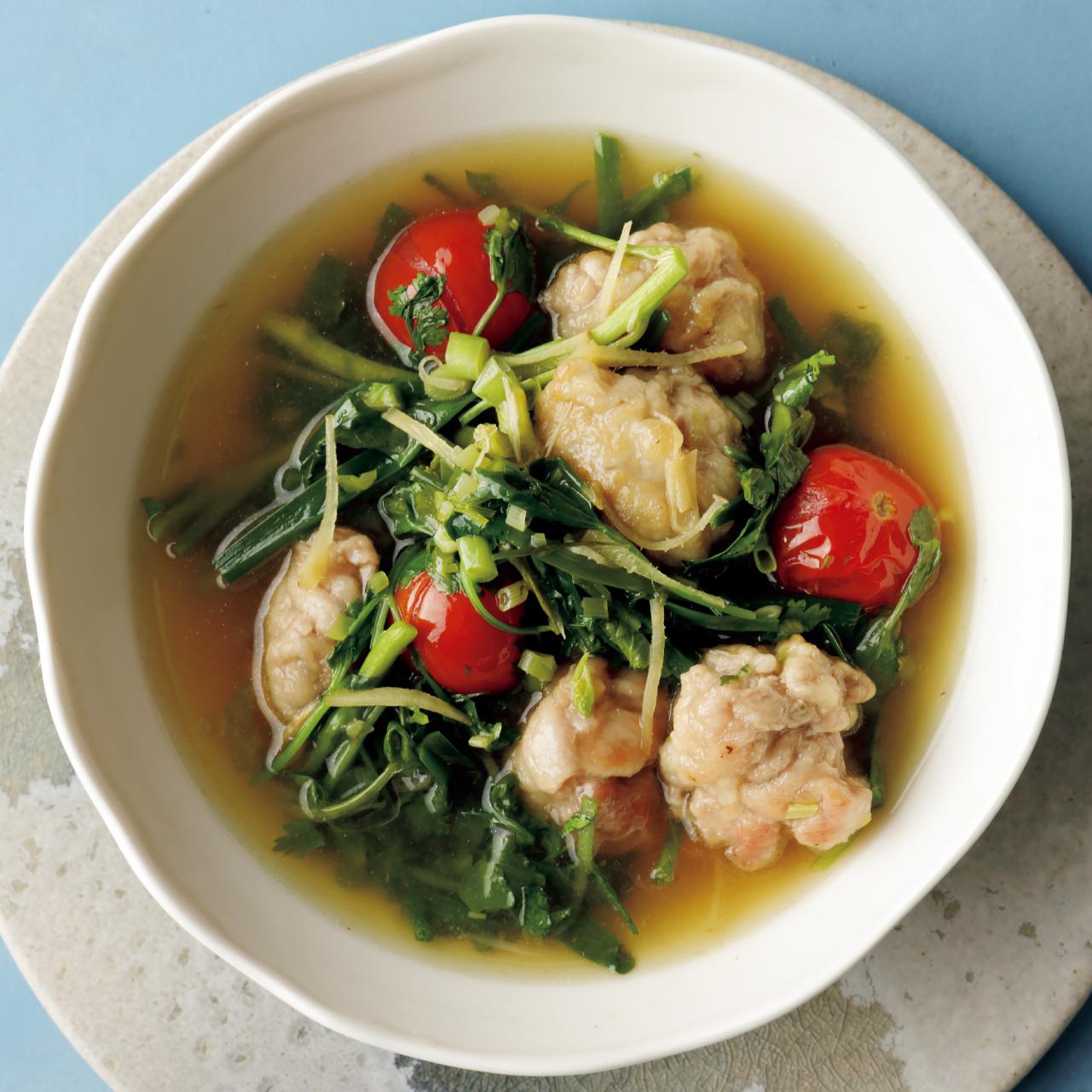 豚肉団子入り野菜スープ