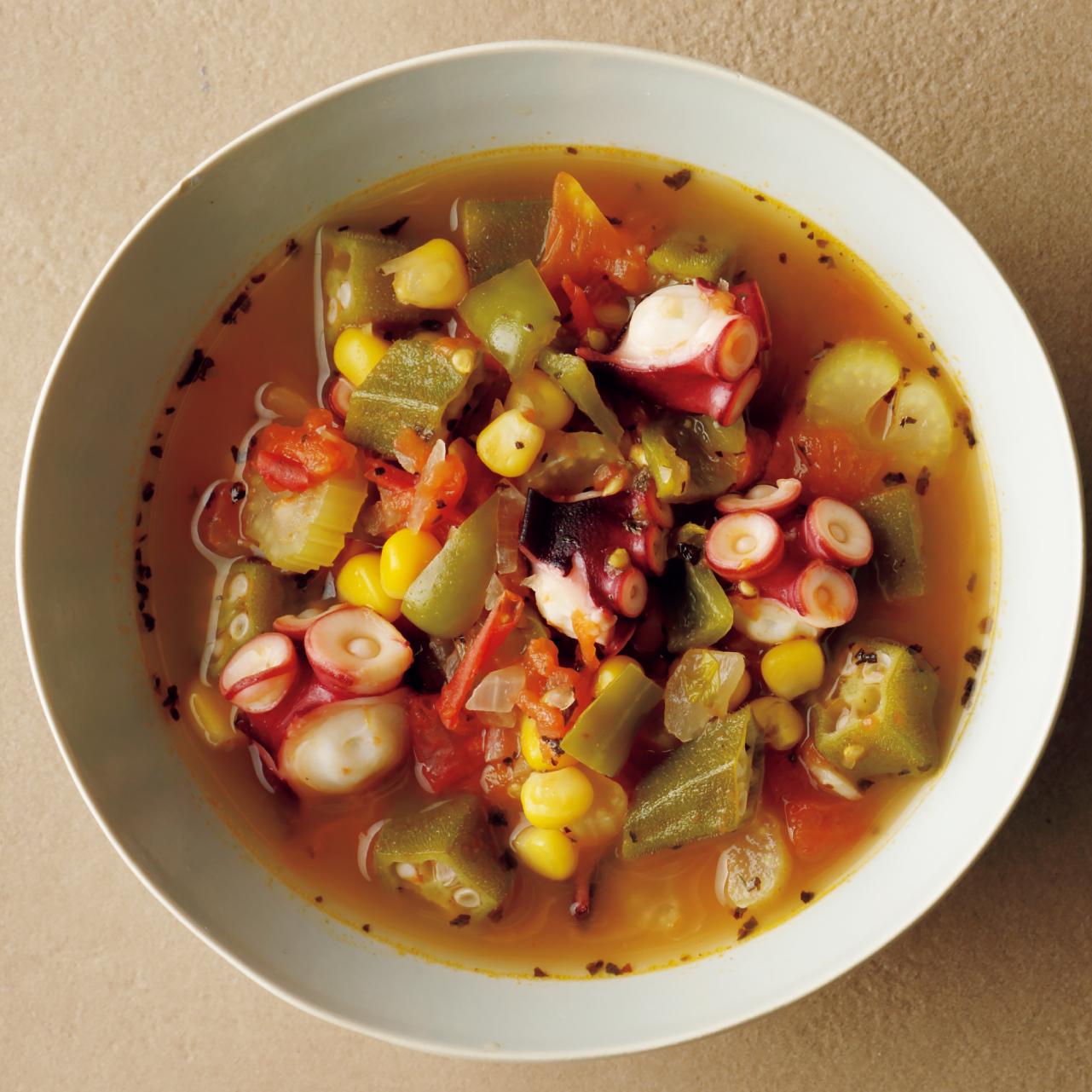 タコと野菜のスープ