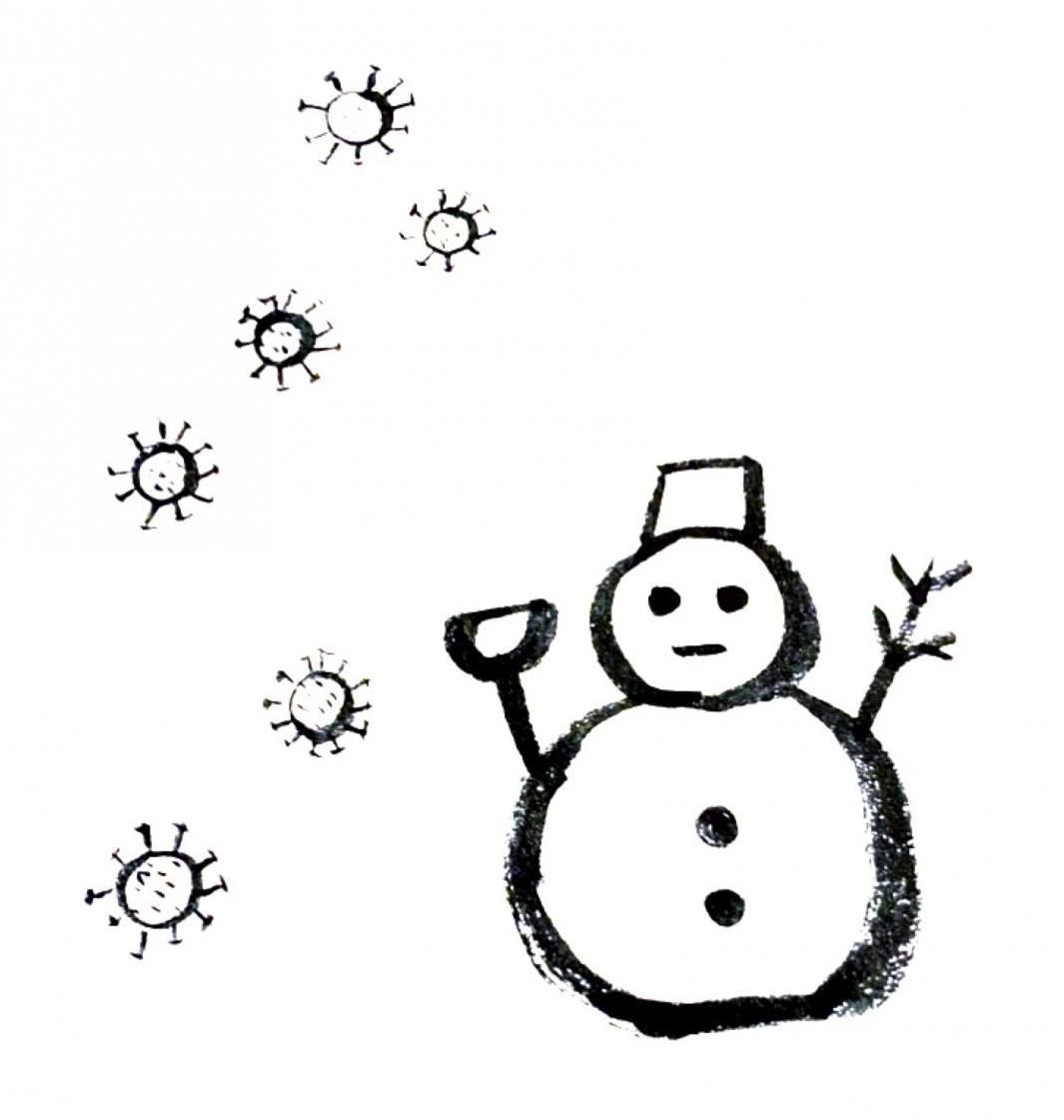 樫出さん 雪だるま