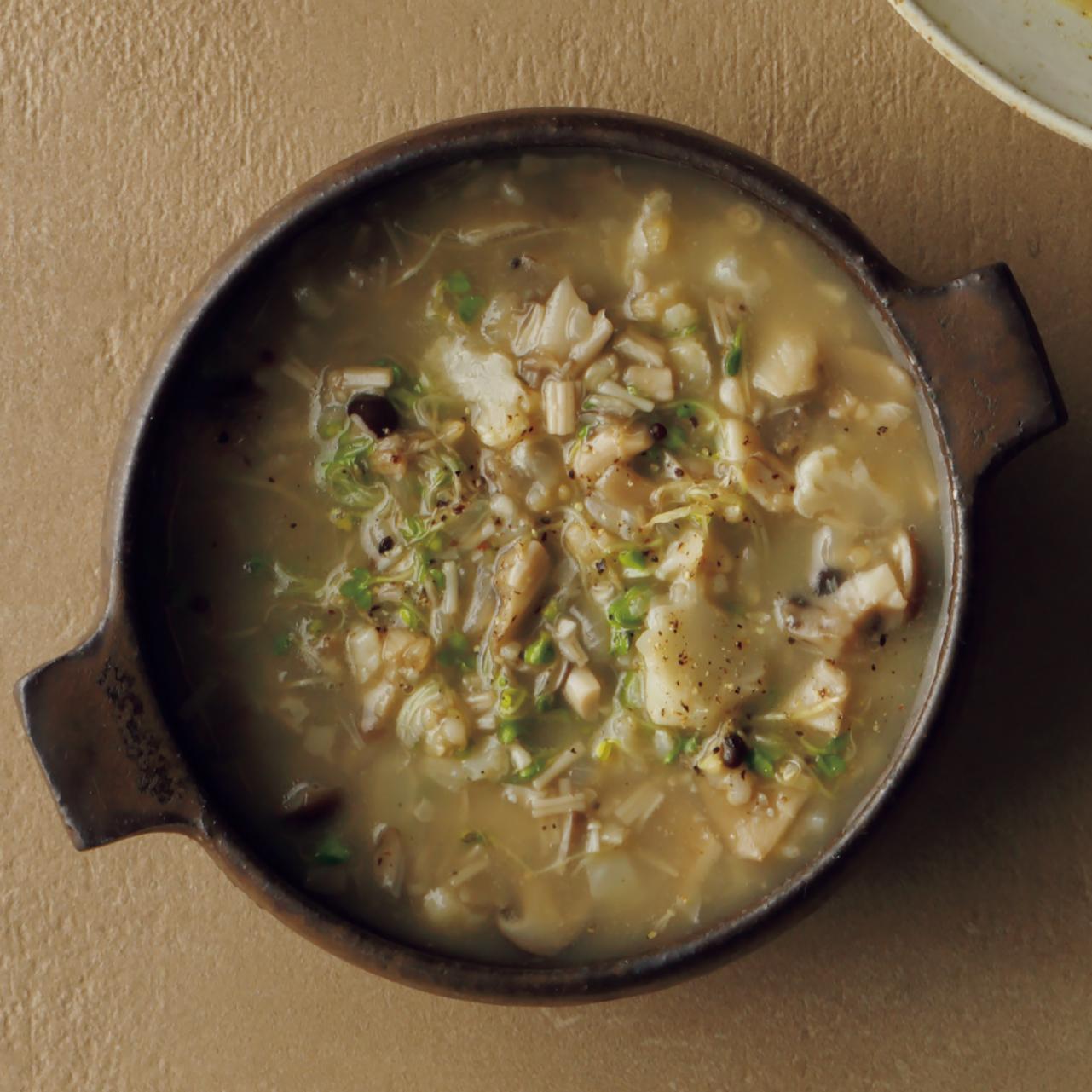 ざく切りきのこのスープ