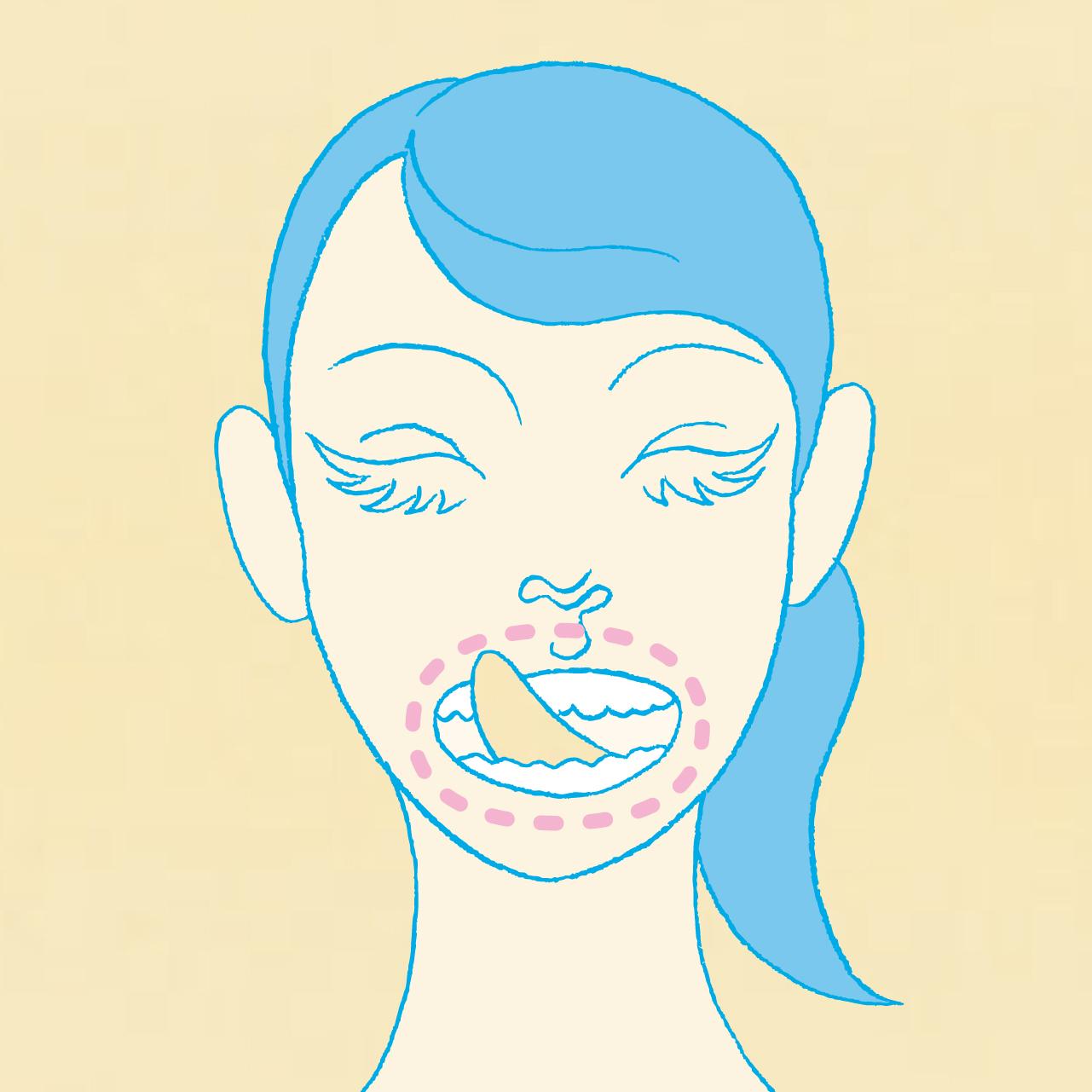 """唾液は、歯周病や虫歯の原因菌、口臭などを撃退できる""""天然の消毒液""""。"""