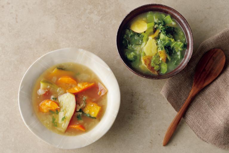 「アブラナ科野菜のスープ」「根菜のスープ」/基本のウェルネス野菜スープを簡単アレンジ!
