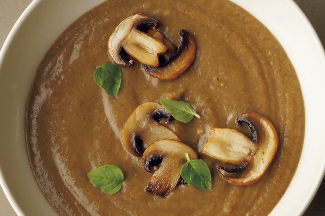 ドライポルチーニのだしが豊かに香る「きのこのポタージュ」/野菜スープに「+きのこ」で栄養価とおいしさアップ