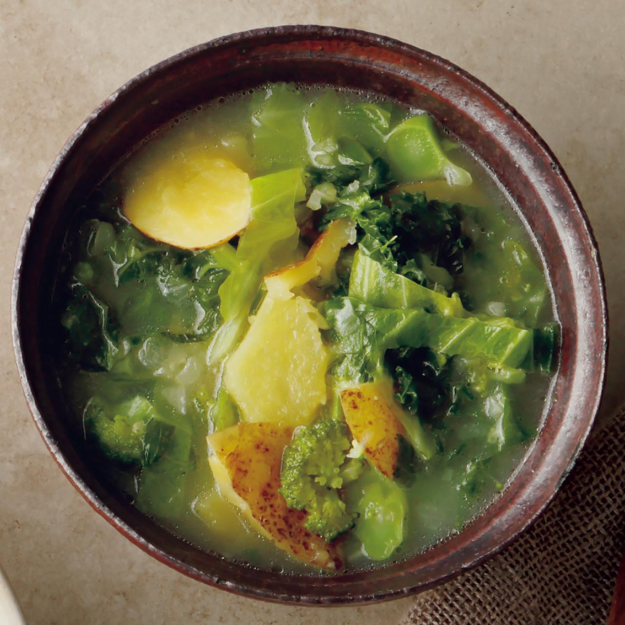アブラナ科野菜のスープ