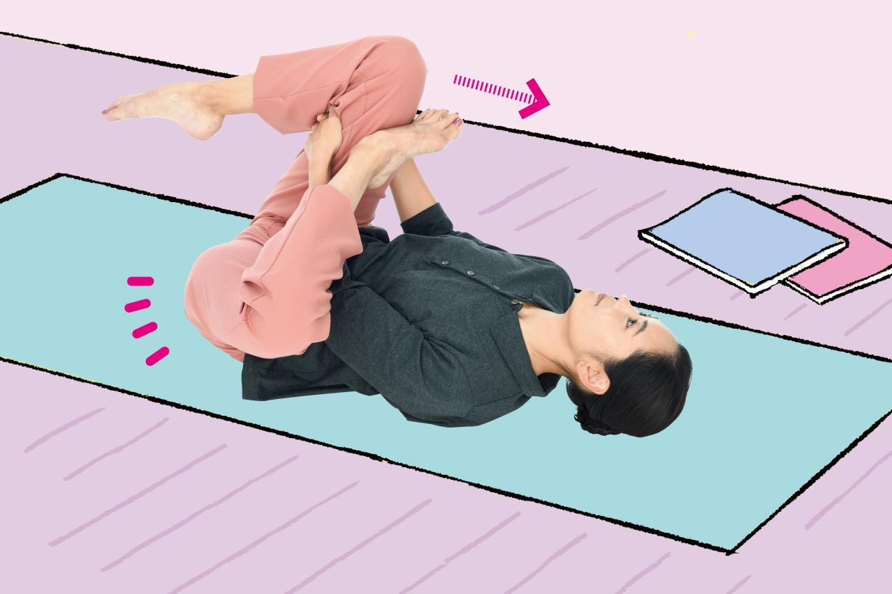 殿筋伸ばしで腰痛改善