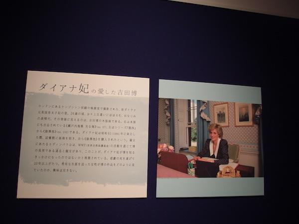 吉田さらさおでかけ「吉田博展」ダイアナ妃説明文P1253030.JPG
