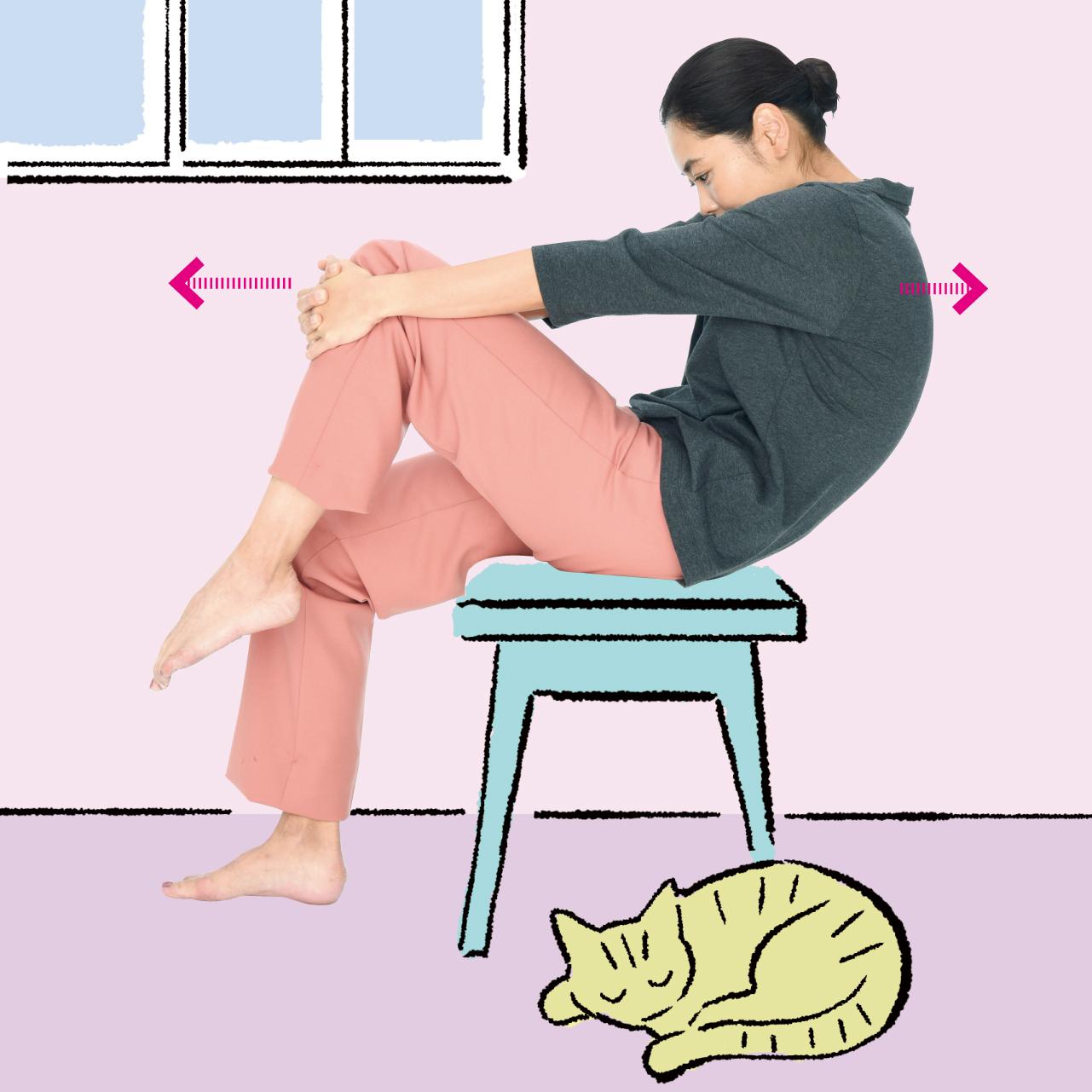 腕のけん引で肩こり改善