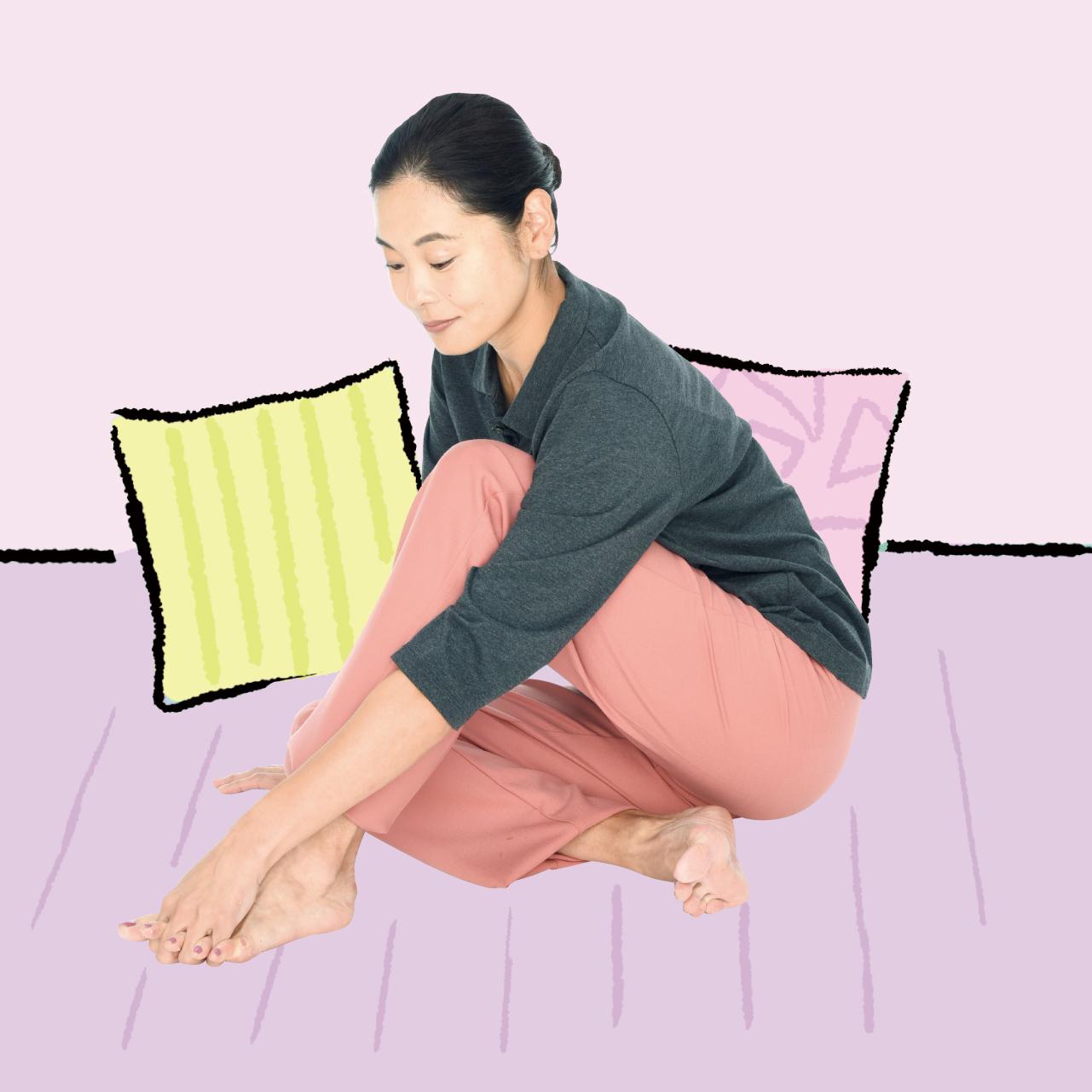 足指開きでむくみ改善