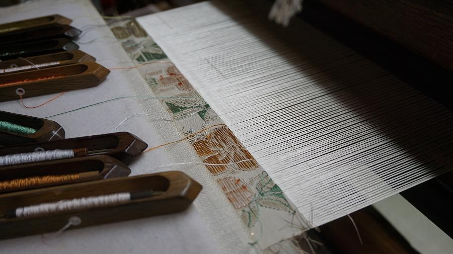 原おでかけ京の味ともの「西陣渡文」織工程DSC04065