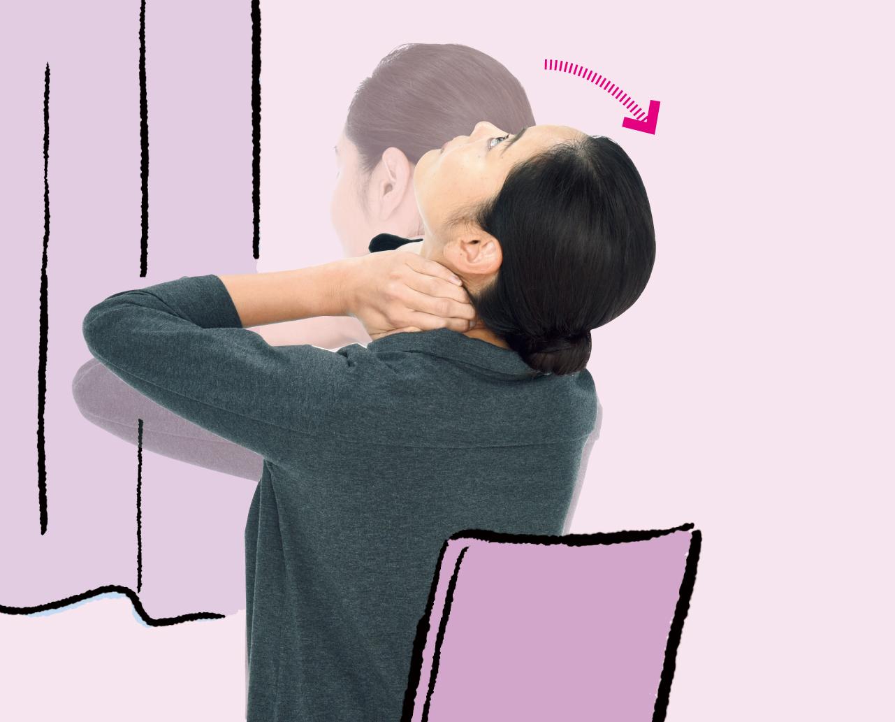 指圧ストレッチで首の痛み改善